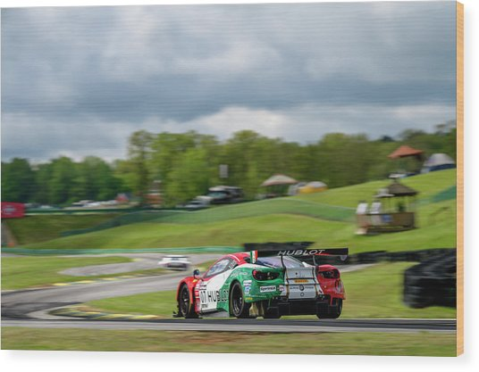 Hublot Ferrari On The Track At Virginia International Raceway  Wood Print