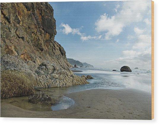 Hug Point Beach Wood Print