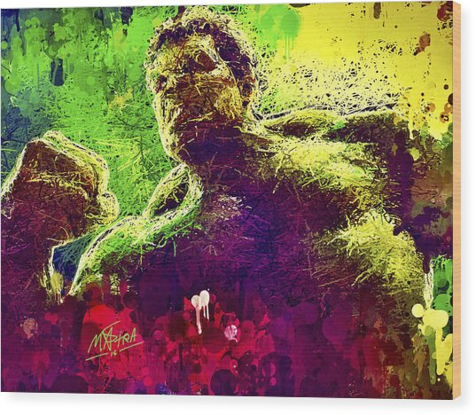 Hulk Smash Wood Print