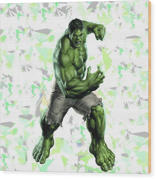 Hulk Splash Super Hero Series Wood Print