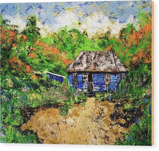 Humble Beginnings Wood Print by Nickola McCoy-Snell