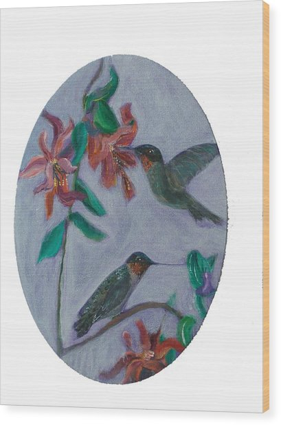 Humming Birds Wood Print by Mikki Alhart