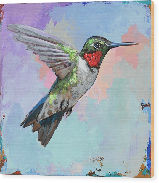 Hummingbird #4 Wood Print