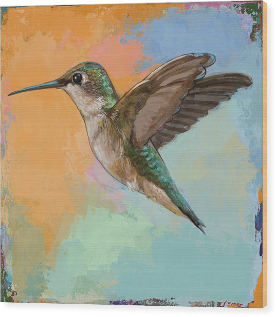 Hummingbird #5 Wood Print