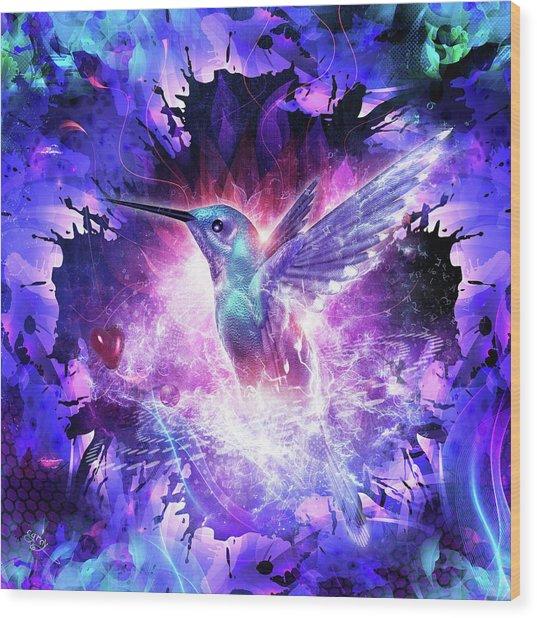 Hummingbird Love Wood Print