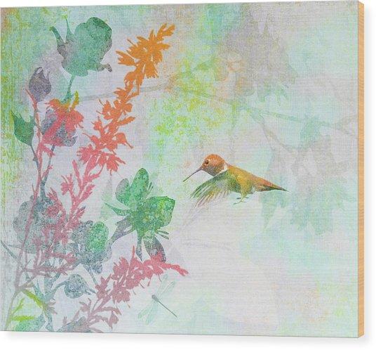 Hummingbird Summer Wood Print