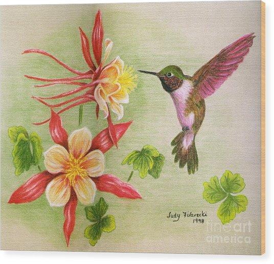 Hummingbird's Delight Wood Print