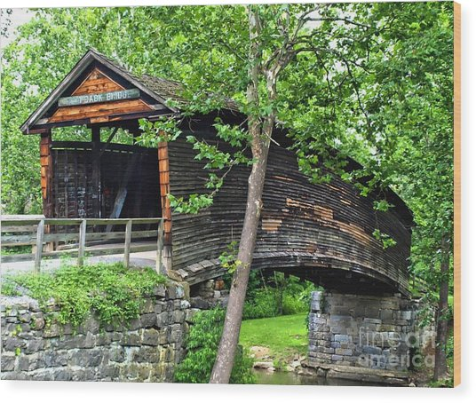Humpback Bridge Wood Print by Kathy Jennings