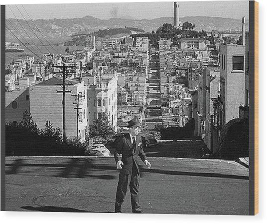 Humphrey Bogart Film Noir Dark Passage Telegraph Hill And Coit Tower San Francisco 1947 Wood Print