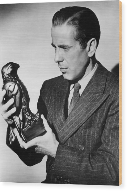 Humphrey Bogart Holding Falcon The Maltese Falcon 1941  Wood Print