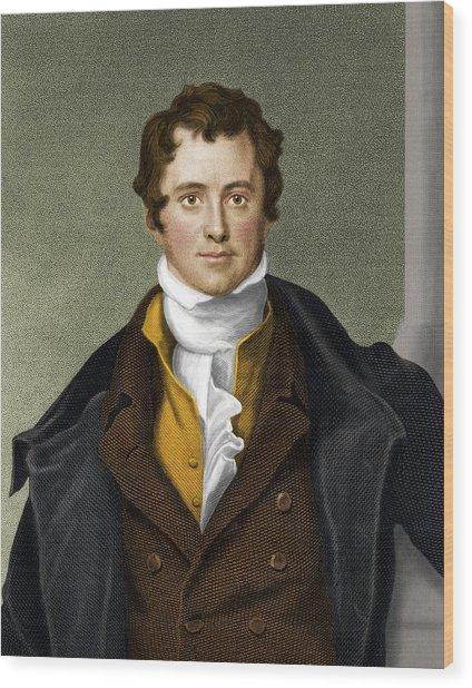 Humphry Davy, British Chemist Wood Print by Maria Platt-evans
