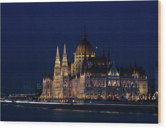 Hungarian Parliament Building #1 Wood Print