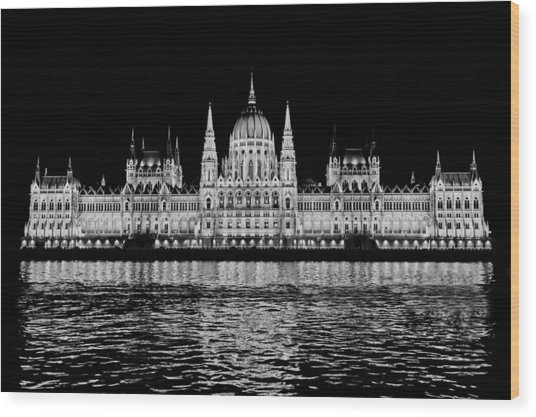 Hungarian Parliament Building Wood Print