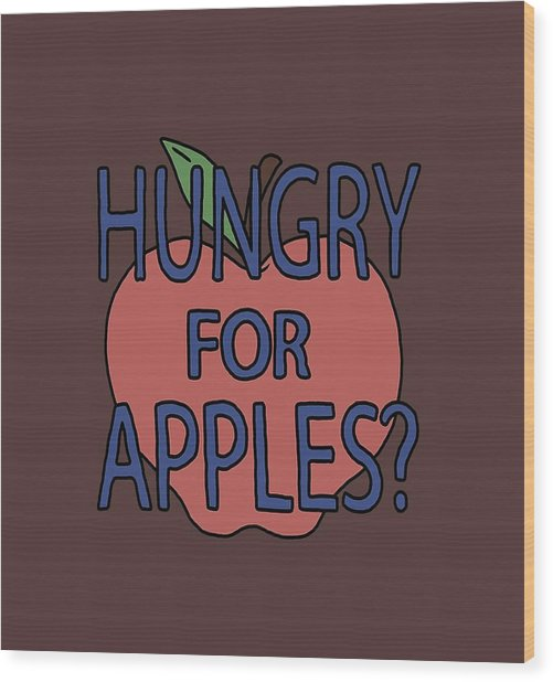 Hungry For Apple Rick Wood Print