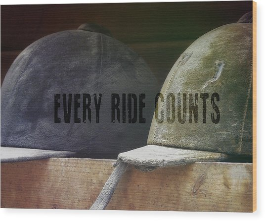 Hunt Caps Quote Wood Print by JAMART Photography