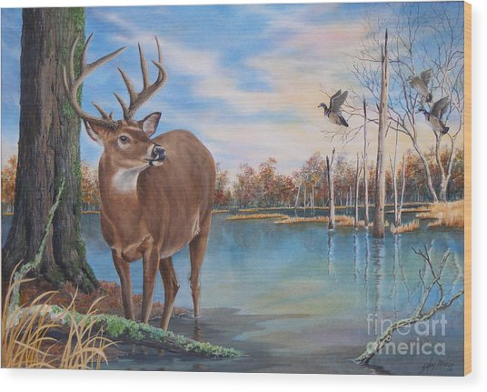 Hunters Dream Sold Wood Print