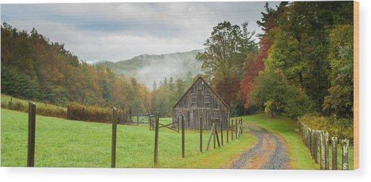 Hunting Cabin-3 Wood Print