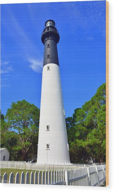 Hunting Island Lighthouse Beaufort Sc Wood Print