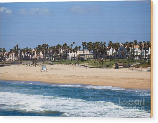 Huntington Beach California Wood Print