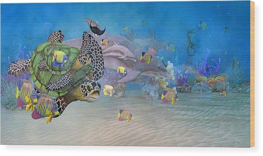 Huntington Beach Imaginative  Wood Print
