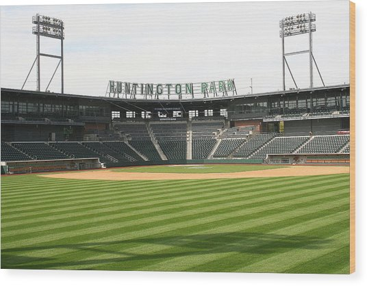 Huntington Park Baseball Field Wood Print
