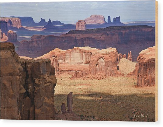 Hunt's Mesa Spotlighting Wood Print