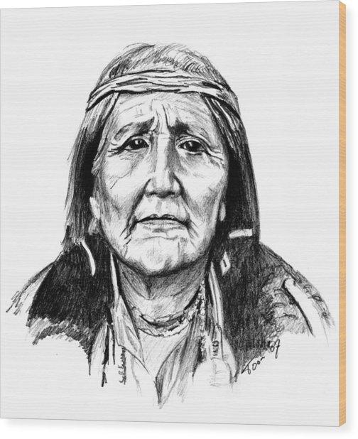 Hupa Woman Wood Print