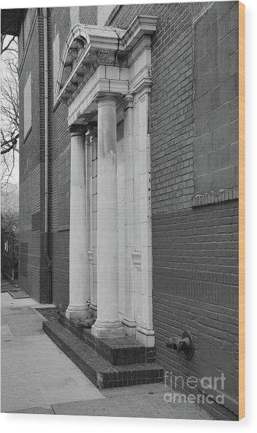Hurst House Door Wood Print