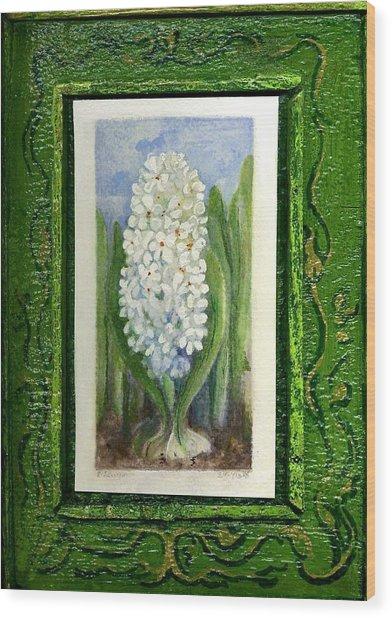 Hyacinth Wood Print by Elle Smith Fagan