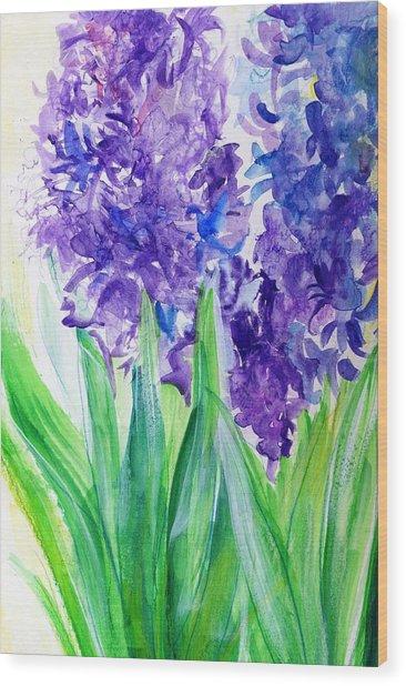 Hyacinths At Debbie's Wood Print