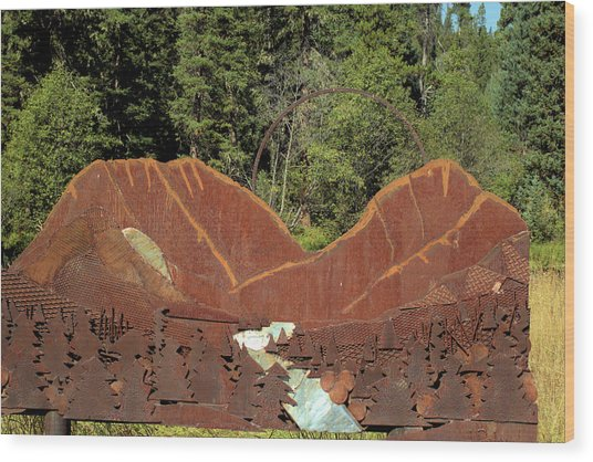 Hyalite Canyon Sculpture Wood Print