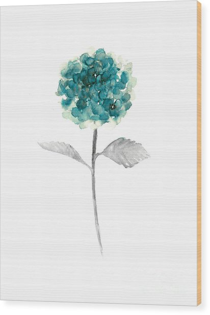 Hydrangea Nursery Art Print Wood Print