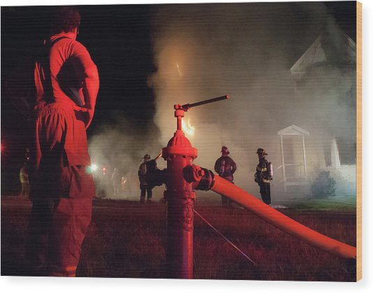Hydrant Wood Print by Erin Thomas