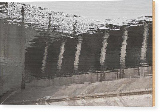 Hydro Dam Number One Wood Print by Michael Rutland