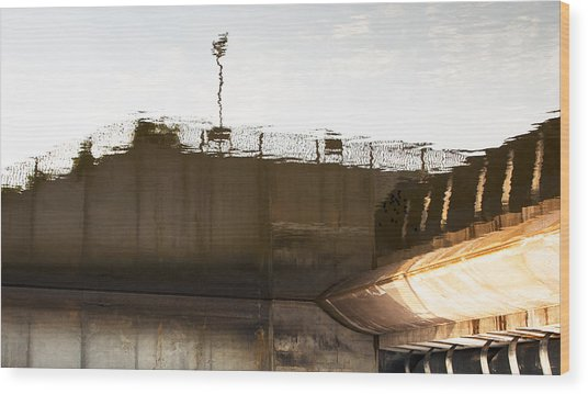 Hydro Dam Number Two Wood Print by Michael Rutland