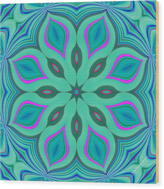 Wood Print featuring the digital art Hypnotherapy 2231k8 by Brian Gryphon