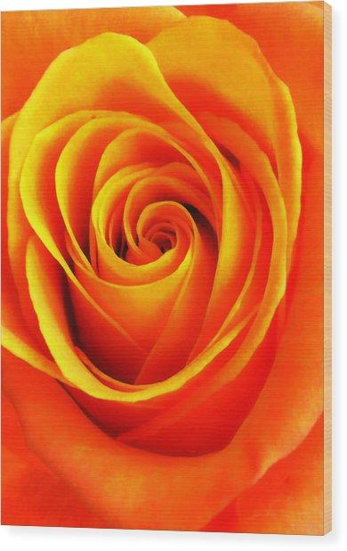 Hypnotic Orange Wood Print