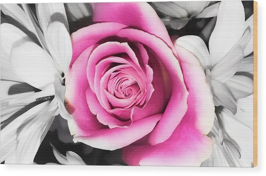 Hypnotic Pink 2 Wood Print