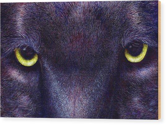 Hyptnotist The Black Panther Wood Print by JoLyn Holladay