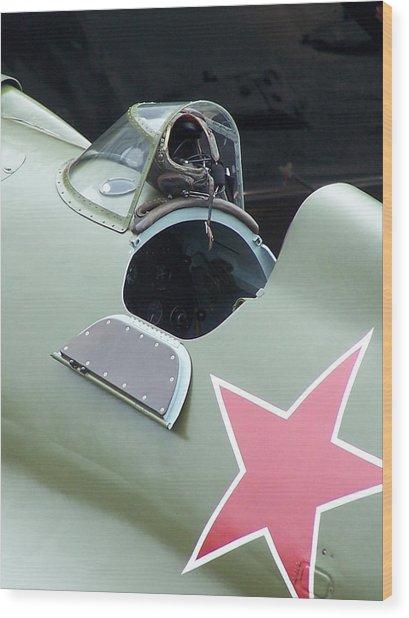 I-16 Rata Cockpit Door Wood Print by Gene Ritchhart