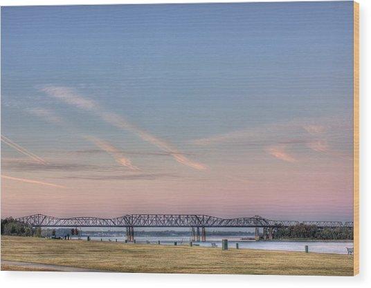 I-55 Bridge Over The Mississippi Wood Print