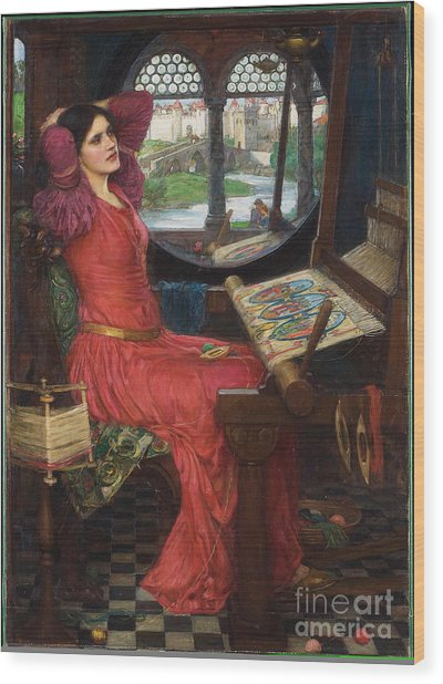 I Am Half-sick Of Shadows, Said The Lady Of Shalott Wood Print