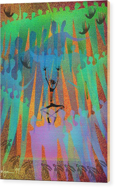 I Am Not Alone Wood Print