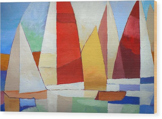 I Am Sailing X L Wood Print