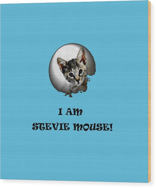 I Am Stevie Mouse Wood Print