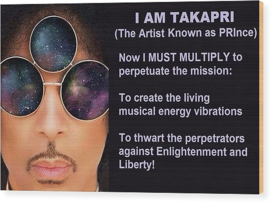 I Am Takapri Wood Print