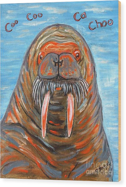 I Am The Walrus Wood Print