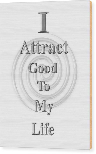 I Attract Silver Wood Print