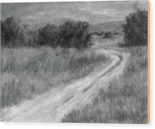 I Can See For Miles Study Wood Print