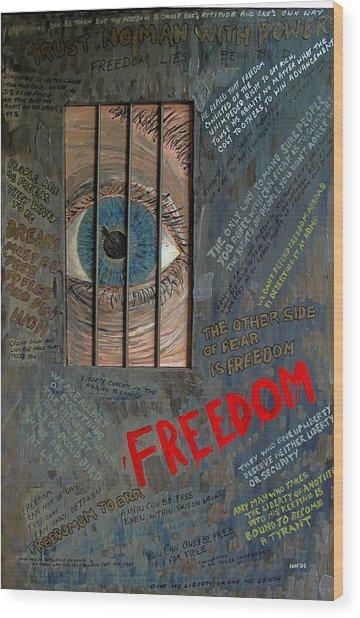 I Can See Freedom Wood Print by Ian Duncan MacDonald